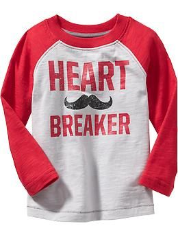 Valentines Day Raglan Sleeve Graphic Tees For Baby And Toddler Boy