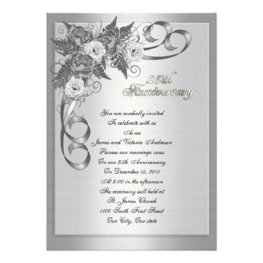 25th Wedding Anniversary Vow Renewal White Roses Invitation Zazzle Com In 2020 Wedding Anniversary Invitations 25th Wedding Anniversary Anniversary Invitations