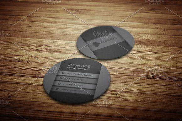 Circular Business Card Template by JigsawLab on @creativemarket