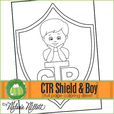 Ctr Shield Boy Printable Coloring Page Mormon Lds Coloring