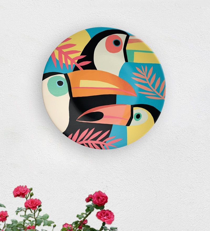 Wall Plates Multicolour Penguins Of Madagascar Decorative Wall Plate By Quirk India Pepperfry Coaster Art Plates On Wall Plate Wall Art
