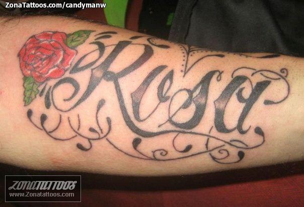 Tatuaje Nombre Rosa 76728 A Jpg 604 413 Tattoos Jesus Fish Tattoo Fish Tattoos