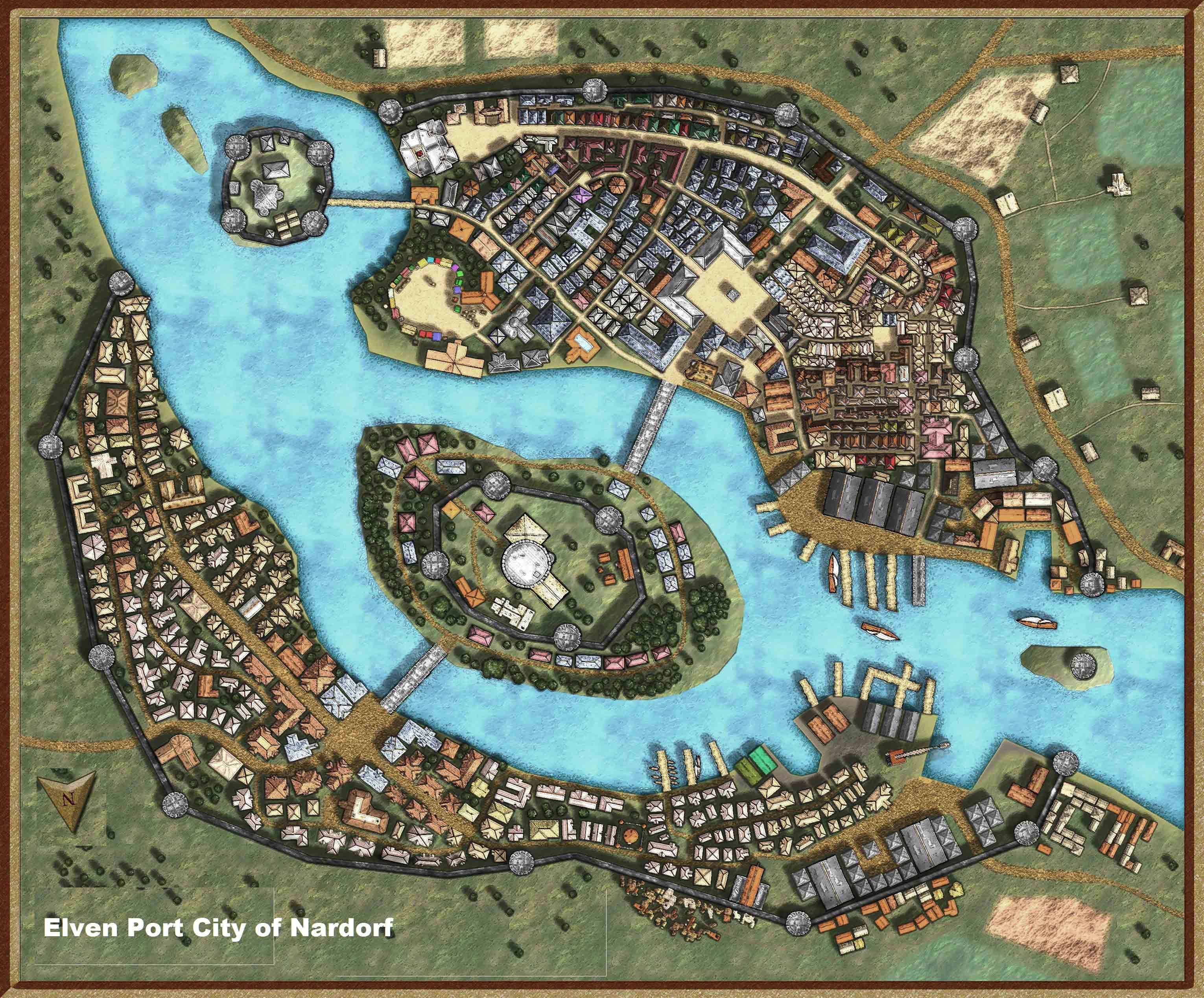 City and Town Maps (D&D) | Maps | Landkarte, Stadt und Fantasy Dnd Town Map on