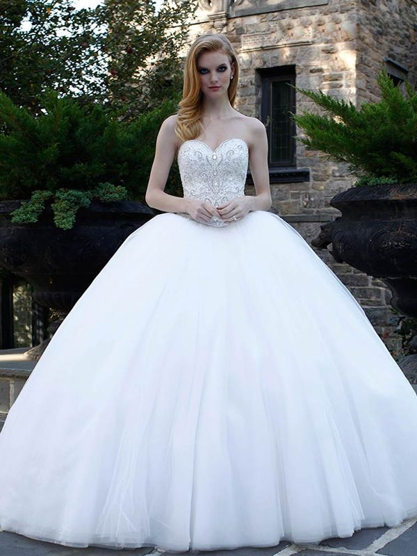 Ball Gown Sweetheart Embroidery Wedding Dresses #GS027