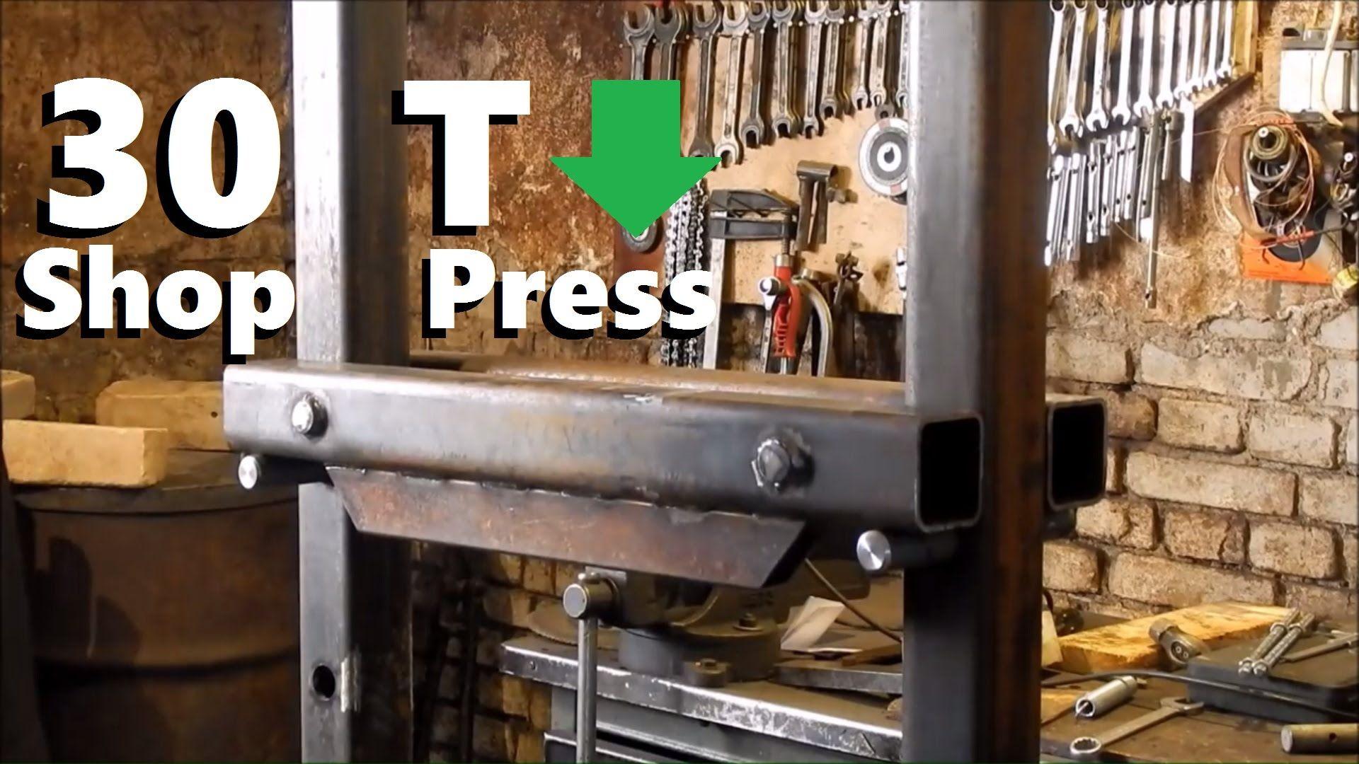 Diy 30 ton hydraulic shop press hydraulic shop press