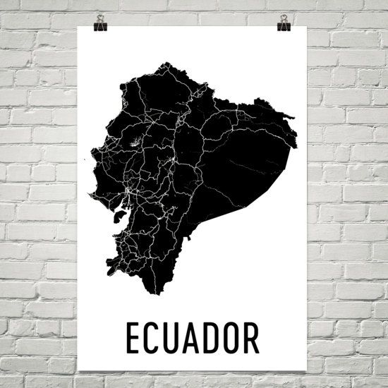 Ecuador Art, Map of Ecuador, Ecuador Map, Ecuadorian Poster, Ecuador Wall Art, Ecuador Poster, Ecuador Gifts, Ecuador Decor, Ecuadorian