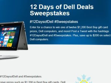 Best Buy 12 Days of Dell Deals Sweepstakes