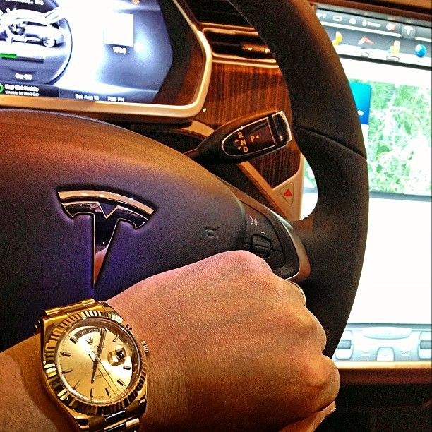 Tesla S And Day Date 2 Yellow Gold Tesla Rolex Presidential Gold Tesla S Rolex Watches For Men