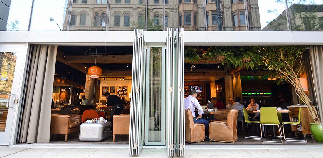 Gallery Restaurants Retail Folding Swing Multi Slide Doors