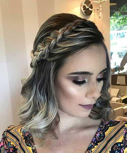 pin von karla helena auf weddings ♥ | zopf kurze haare
