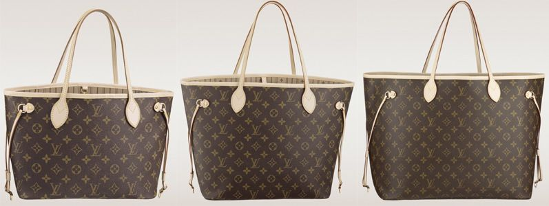 Size Comparison of the Louis Vuitton Neverfull Bags  71108225ff