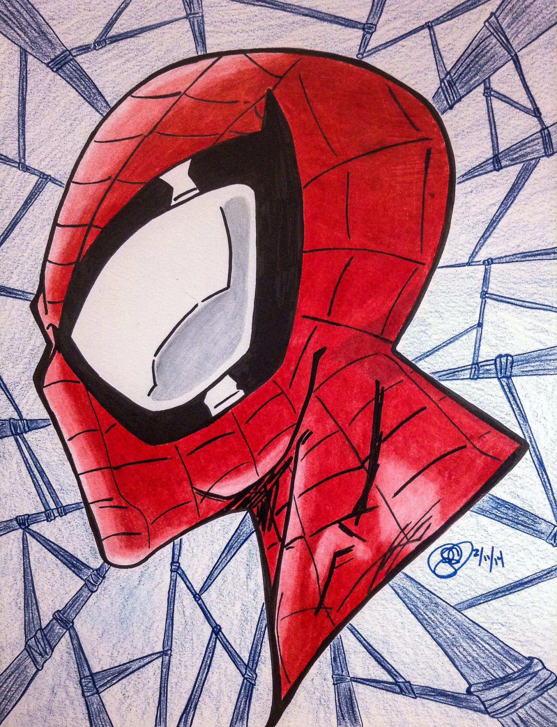 Spiderman Head Profile Spiderman Artwork Art