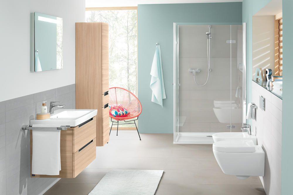 Bambus Badezimmer ~ Badezimmer weiß und grau mit einer grünen pflanze super