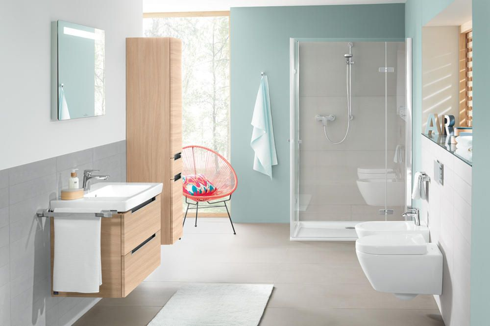 Badezimmer Modern Beige Grau : Concret Beige, Concret Braun ... | {Badezimmer modern beige 75}