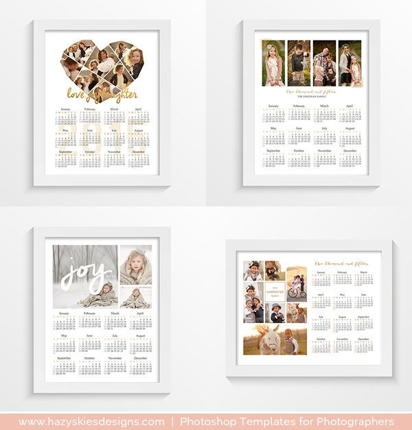 2015 - 2016 Photoshop Calendar Templates for Photographers #2015 - marketing schedule template
