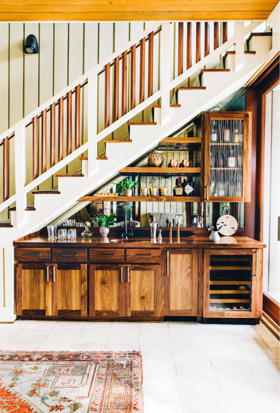 cool idea stairs in kitchen bar under stairs understairs storage on kitchen under stairs id=33189
