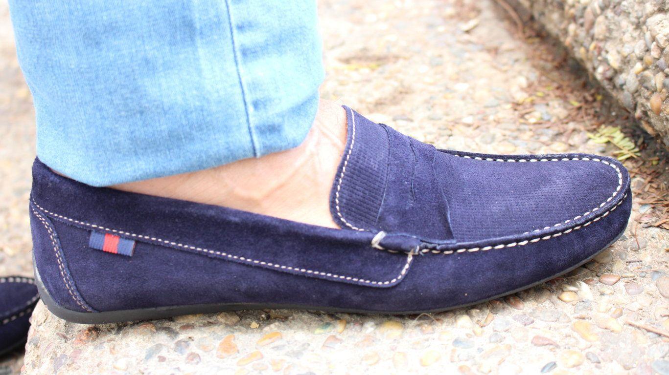 Zapatos de hombre, zapatos de verano,  zapatos de ante, copete.