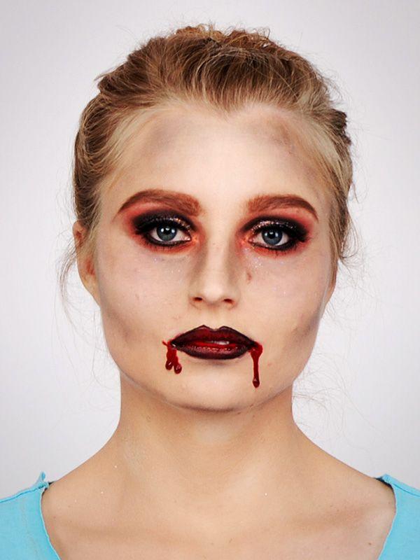 vampir schminken step by step anleitung vampir schminken schminken f r halloween und lippen. Black Bedroom Furniture Sets. Home Design Ideas