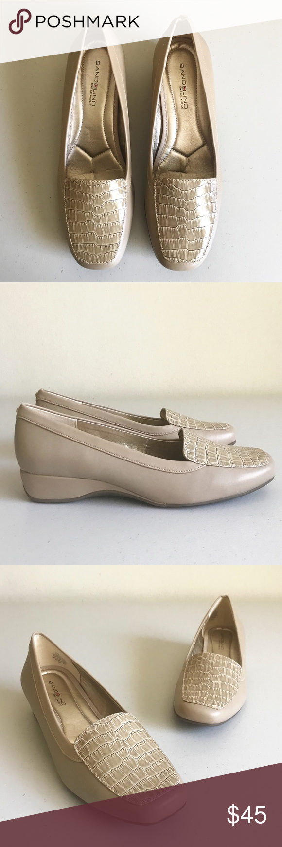 5da56e4216c Bandolino   Lilas  Low Wedge Slip-On Loafer Condition  New with box ...