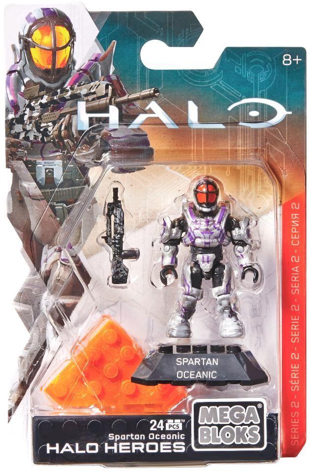Mega Construx Halo Heroes Series 2 Spartan Oceanic Figure - 24 Piece