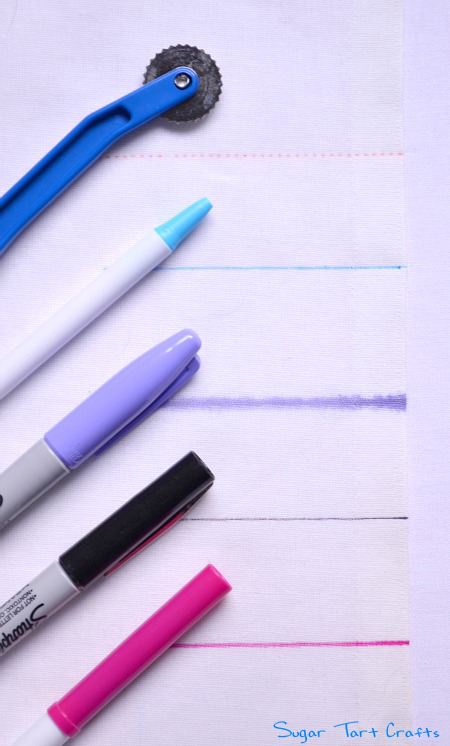 Methods for marking fabric: tracing wheel, ballpoint pens, sharpie, and  washable markers