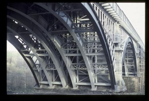 Ouseburn Viaduct, underside of arch, 1984