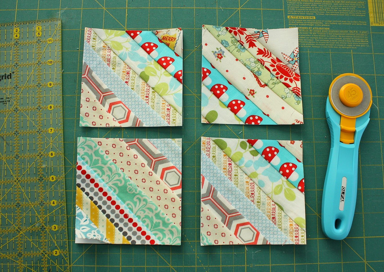 Gorgeous Mini Scrap Quilt Tutorial - Fabric strips, Fabric scraps and Scrap