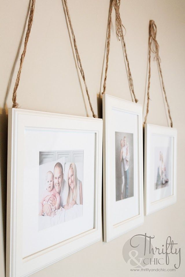 Tape Jute To The Back Of Hung Frames And Attach Higher On