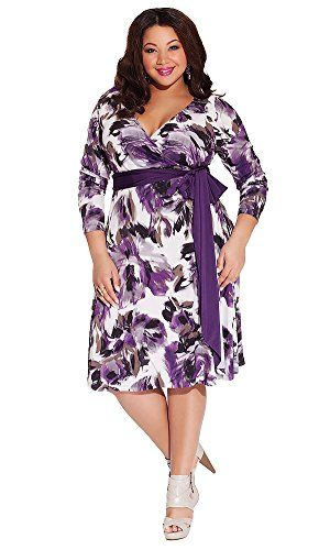 Igigi Womens Plus Size Neve Wrap Dress In Lavender 3032 Plus