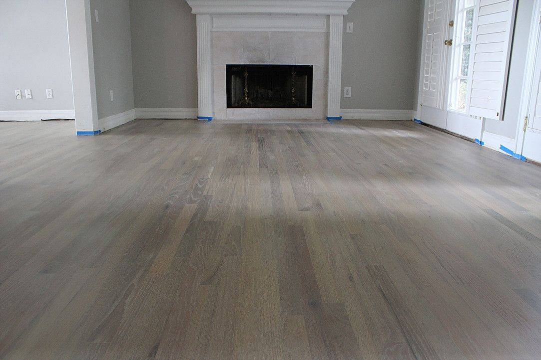 Hardwood Floor Resurfacing Red Oak Finished Smoked And
