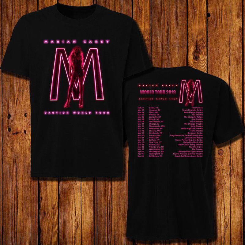 d313069ebf0f3 Mariah Carey 'Caution' World Tour Dates 2019 T-shirt 2 SIDE all size ...