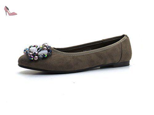 45c6f044b3e Dolce Vita Ballerine Chaussures Femmes À Enfiler Chaussures D été 4025  Marron - 41