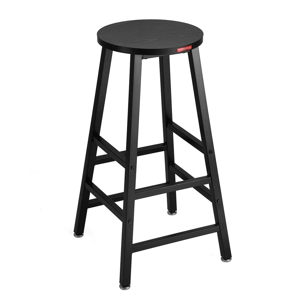 Mr Ironstone Bar Stool Black Pub Height Bar Stool 27 7 Pub Dining Height Stools Bistro Table Chairs Wood Grain Details Ca Indoor Chairs Dining Stools Stool