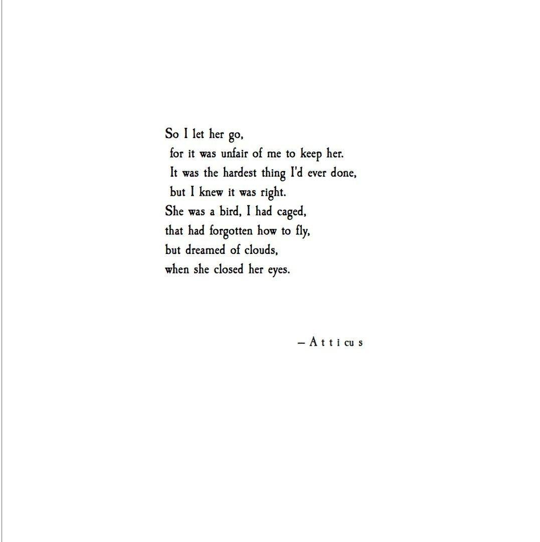 'Let Her Go' @atticuspoetry #atticuspoetry