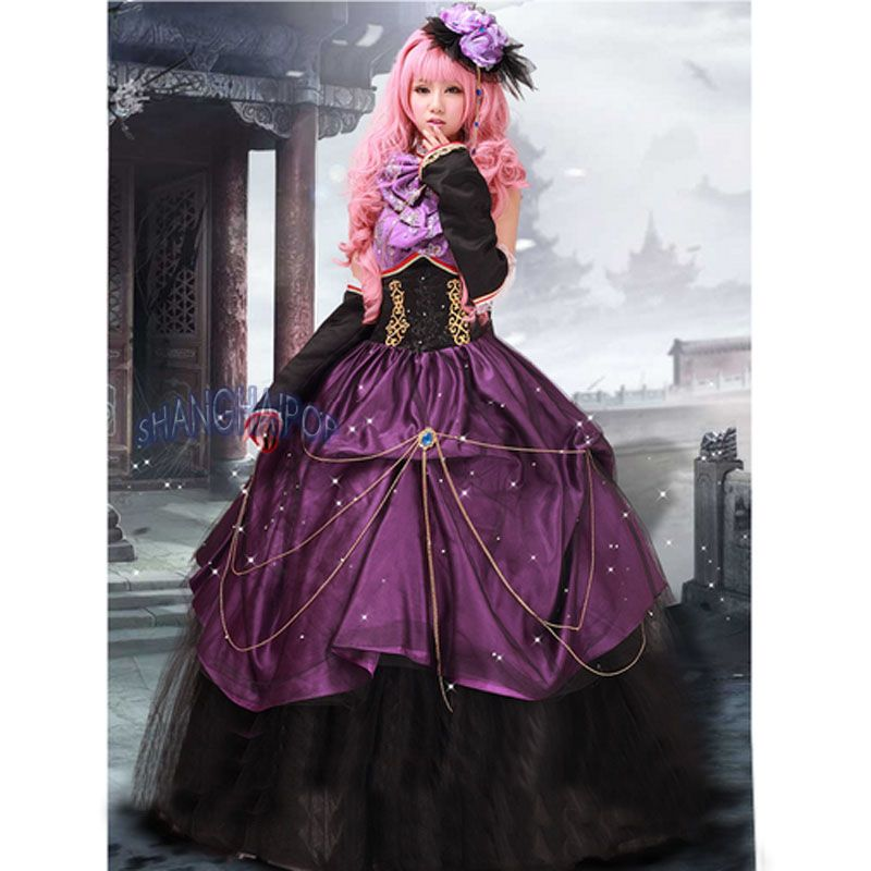 Ball Gown Anime Dress Quinceanera Prom Maxi Bead Organza Fancy