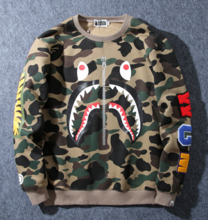 8c42ecda438 Bape Crewneck Shark Camo