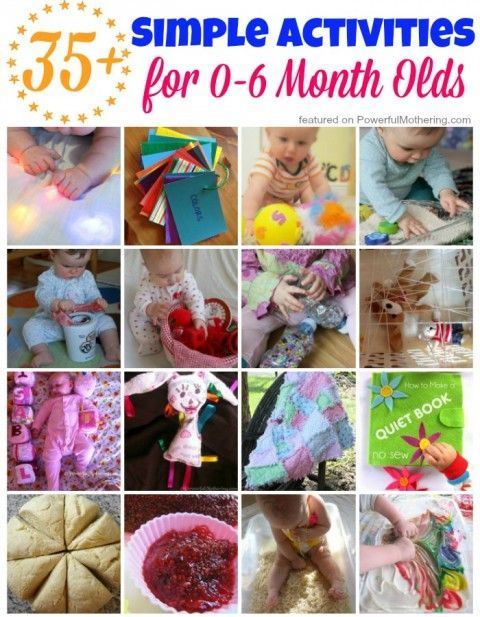 35 Simple Activities For 0 6 Month Olds Infant Activities Baby Learning Toddler Activities