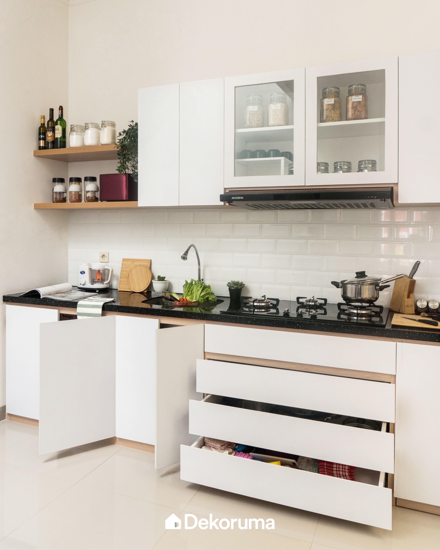 Scandinavian Chic House Serpong Desain Dapur Modern Desain Interior Dapur Luar Ruangan