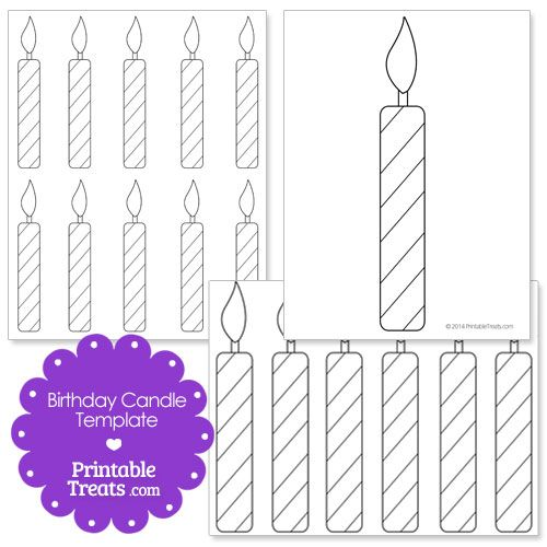 graphic regarding Birthday Candle Printable named Printable Birthday Candle Form Template preschool