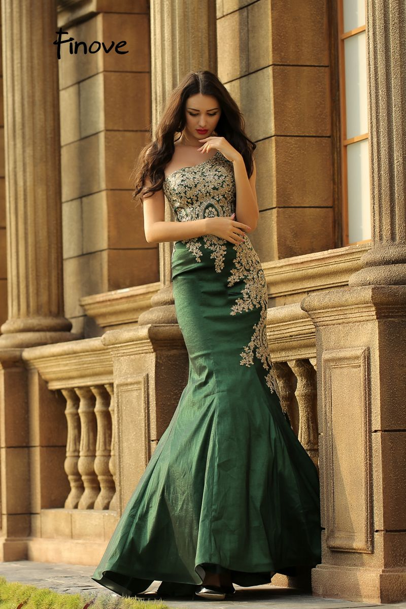 fdf0474f71 Finove robe de soiree 2019 New Arrivals Vintage Green And Gold | The ...
