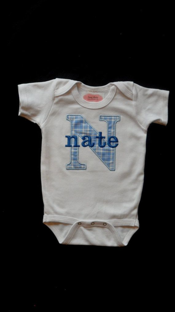Personalized Baby Boy Clothes Take Home Outfit Monogram Boy One ...