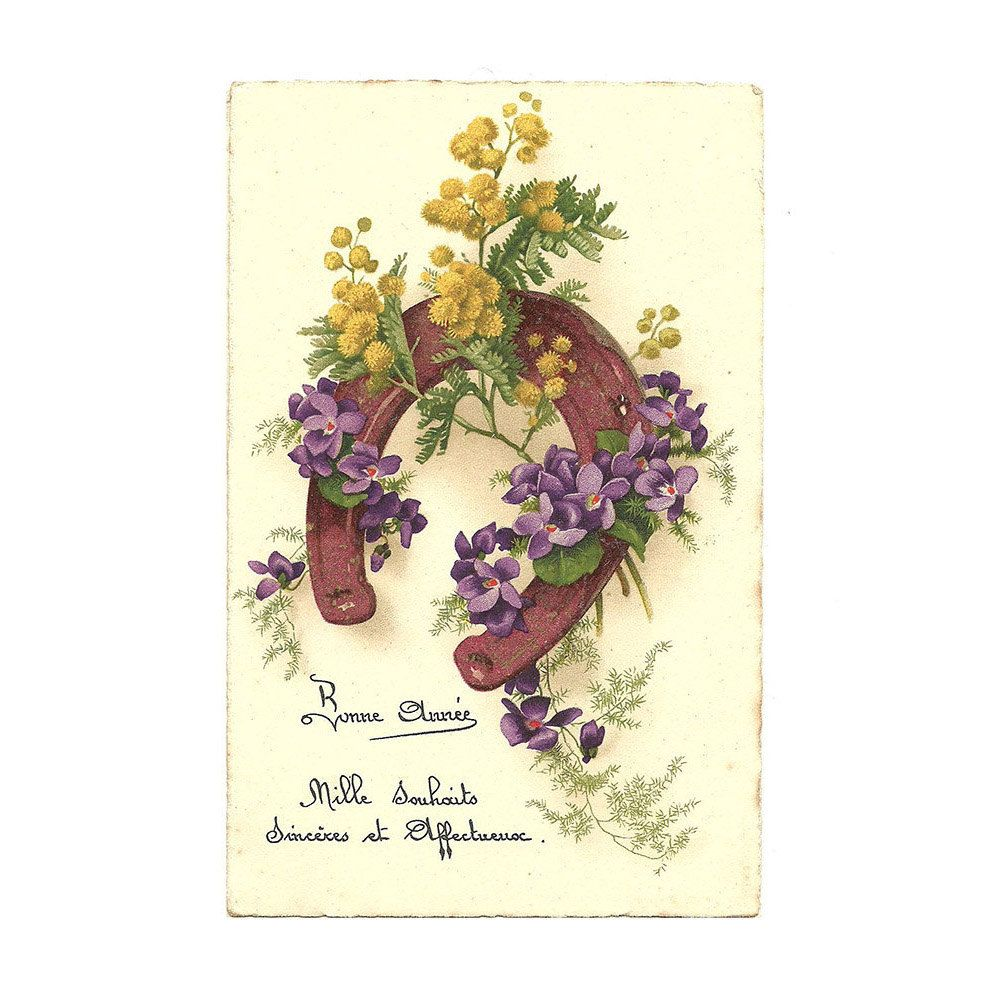 Best Wishes Postcard, Illustrated Postcard, Happy New Year