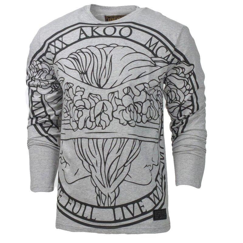 Akoo Medallion LS Tee Athletic inspired fashion, Long