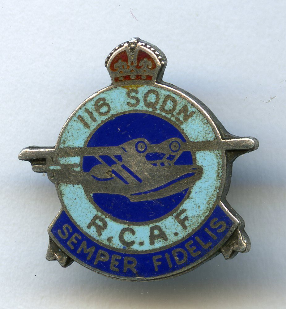 RCAF 116 Squadron (King's Crown) Canadian history