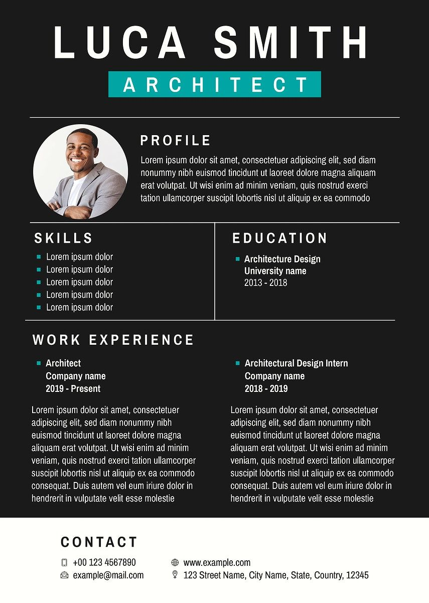 Professional business editable CV template downloadable