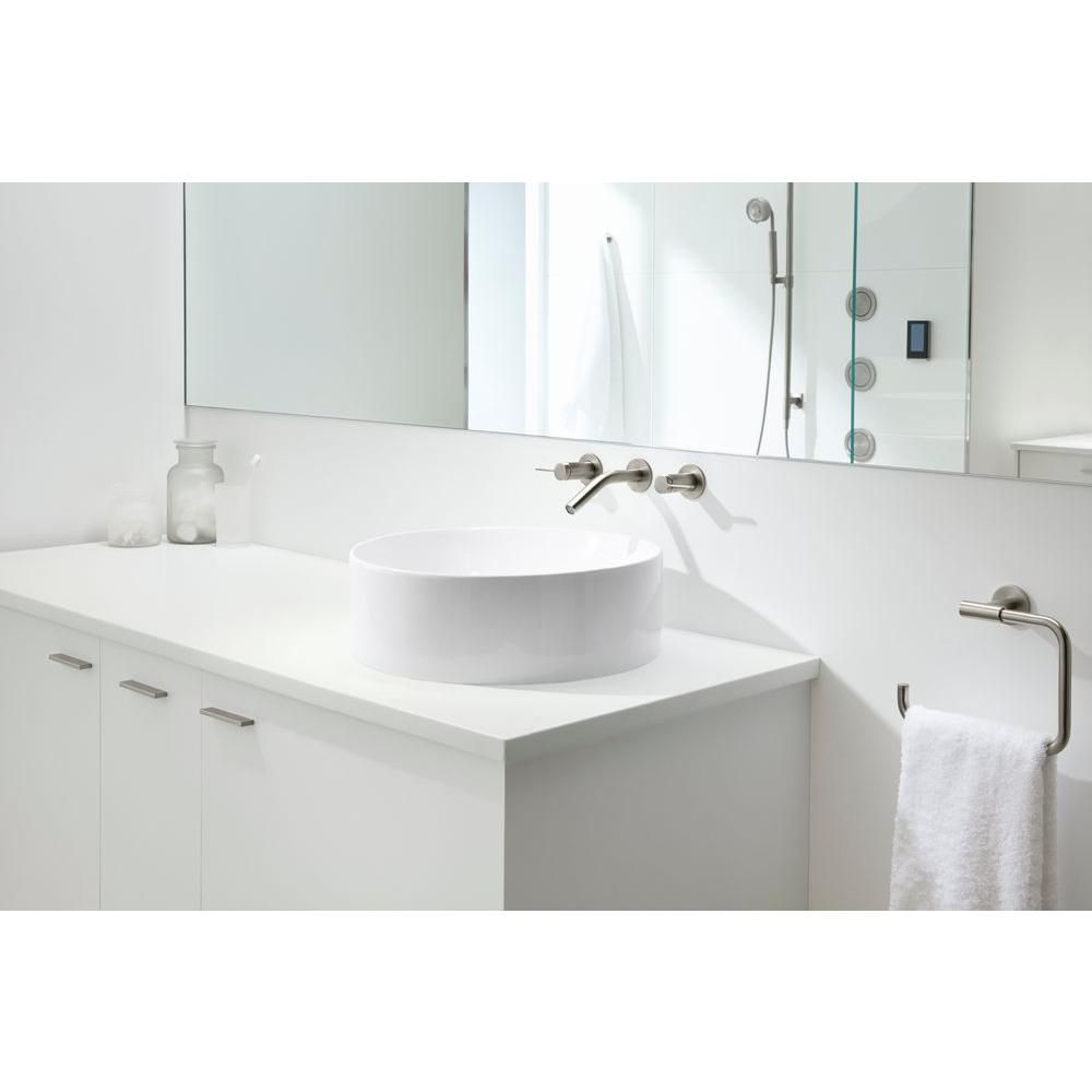 Kohler Vox Round Above Counter Vitreous China Bathroom Sink In White With Overflow Drain K 14800 0 The Home Depot Sink Above Counter Bathroom Sink Bathroom Sink