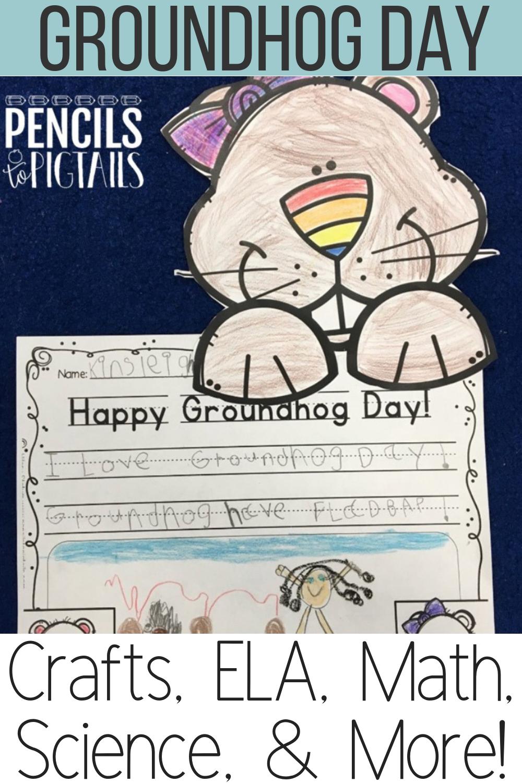Groundhog Day Shadows Crafts And More Activities Pencils To Pigtails Groundhog Day Kindergarten Writing Math Centers Kindergarten [ 1500 x 1000 Pixel ]