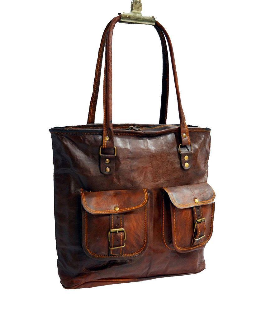 Real leather vintage ladies bag goat hide handbag tote Women/'s Bag girls Purse