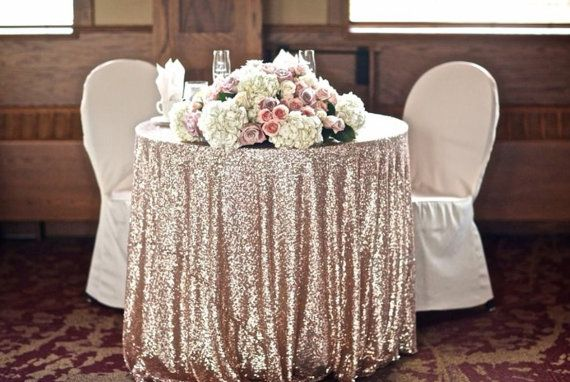 Shimmer Sparkly Overlays Tablecloths for Wedding Royal Blue Sequin Table Cloth