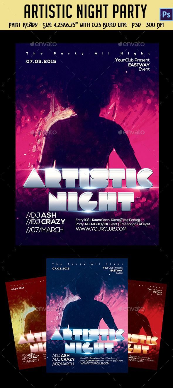 Artistic Night Party Flyer